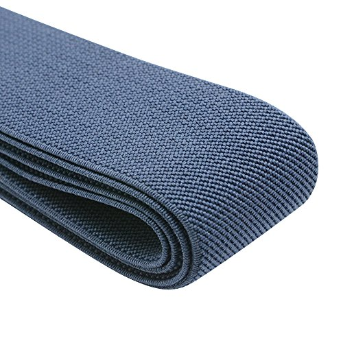 iCraft 2-Inch Wide by 2-Yard Colored Double-Side Twill Elastic Band-Navy Blue 12020