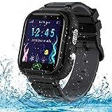 Jaybest Smartwatch para Niños, Reloj Inteligente Niños Teléfono SOS, Cámara, Juegos, Regalo para Niño Niña de 3-12 años (Black)