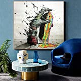 FHGFB DIY「Abstract doodle」Paint by Numbers for Adults Oil Painting Home Living Room Office Decoration Handpainted Gift Frameless 50x50cm