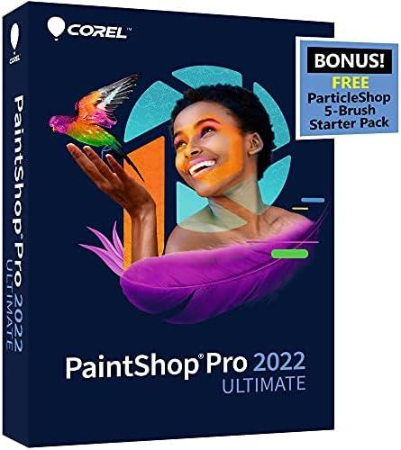 Corel PaintShop Pro 2022 Ultimate | Photo Editing & Graphic Design Software + Creative Bundle | Amazon Exclusive ParticleShop Starter Pack [PC Disc]