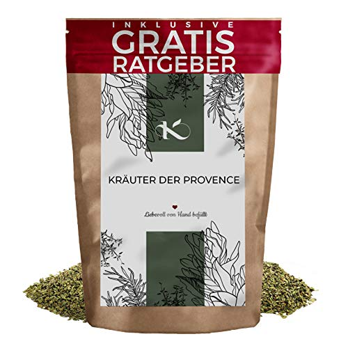 Kräuter der Provence Kräutermischung geschnitten 250g | Kräutermix französische Gewürzspezialität inkl. gratis Ratgeber | hochwertiges Küchengewürz