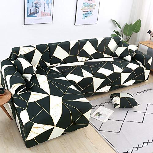 Fundas de sofá de Esquina en Forma de L para Sala de Estar, Fundas de sofá, sofá seccional elástico elástico, sofá Cubre A24, 4 plazas