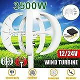 3500W 5 Blade Wind Turbine Red White Flashlight Option Motor Kit 12 / 24V Vertical +...