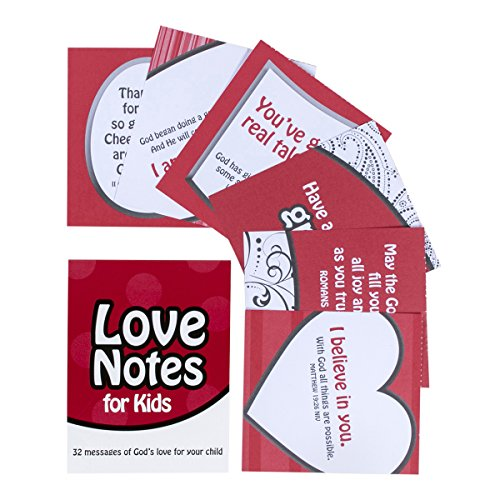 DaySpring Stationery Love Notes for Kids, 32 Affirmation Notes (39239)