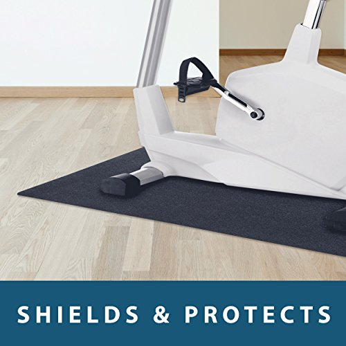 MotionTex Exercise Equipment Mat for Under Stationary Bike, Spin Bike, Fitness Equipment, Home Gym Floor Protection, 24