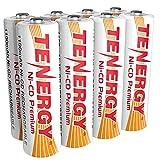 Tenergy AA Premium NiCd Rechargeable Batteries 1100mAh 1.2V Battery Pack for Solar Lights, Garden Lights, 8-Pack