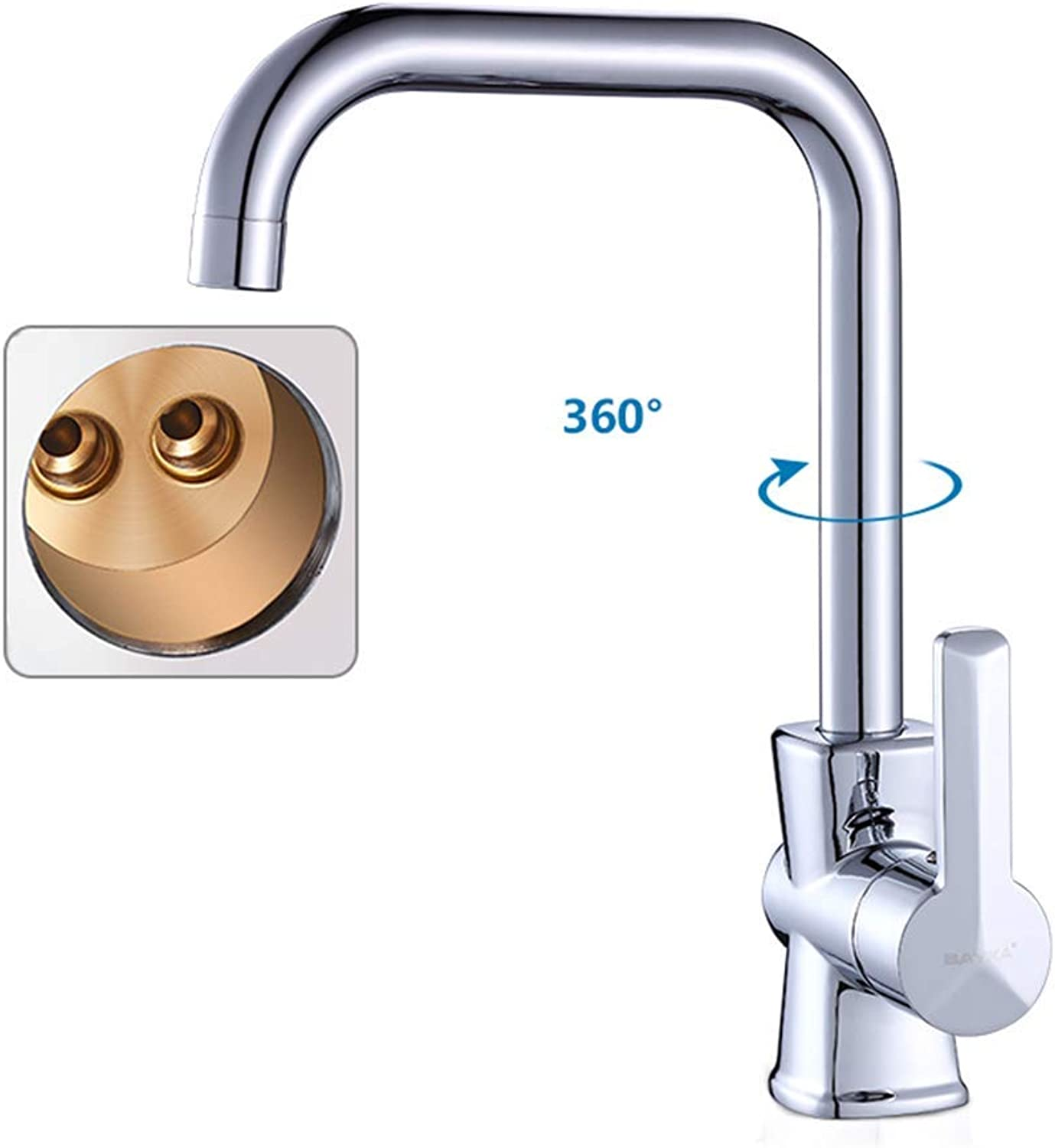 Kitchen Faucet Sink redating Single Hole Single Rod Sink Hot And Cold Water Faucet Copper Body Kitchen Faucet