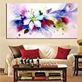 Große Aquarellblume abstrakte Leinwand Pop-Art-HD-Druck