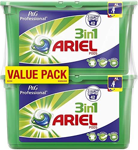 Ariel Professional 3in1 PODs Vollwaschmittel, 2er Pack (2 x 42 Waschladungen)