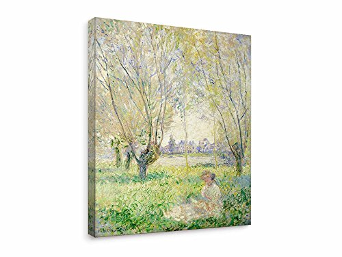 Niwo Art (TM - Woman Seated Under The Willows, by Claude Monet, Oil Painting
