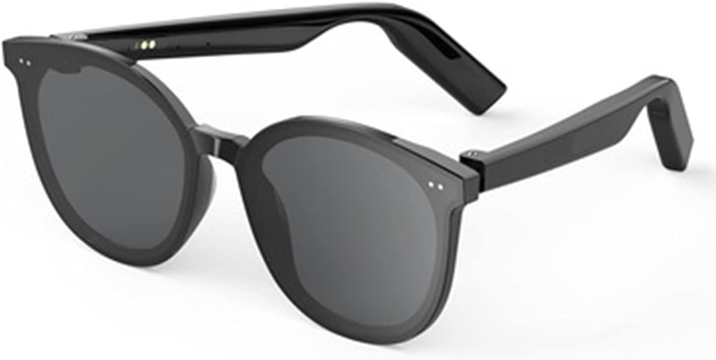 UUYY Bluetooth Glasses Smart Bone Conduction Headphones, Half-Open Anti-Blue and Anti-Ultraviolet Fashion Sunglasses, Suitable for Listening to Music/Sunbathing