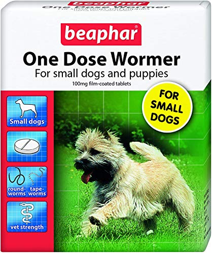 Beaphar One Dose Wormer Small Dog Puppy Worming 3 Tablets
