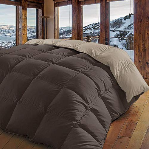 Energy Colors Textil - Hogar Edredón nórdico de 350 g Reversible (Bicolor). Siber (Chocolate, Cama 135/150-240_x_260_cm)