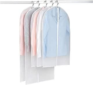 VIV Garment Bag Dust Cover Suit Bag Transparent, Insect Proof, Washable Fabric, Children's Clothing Shirt Suit Jacket Dress Sweater Travel Storage (Set of 5 (Oversized)