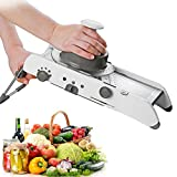 Supreme Mall Adjustable Stainless Steel Mandoline Slicer,Manual Kitchen Cutter Shredder Julienne for Grinding, Cutting,Slicing Fruit Food Vegetables