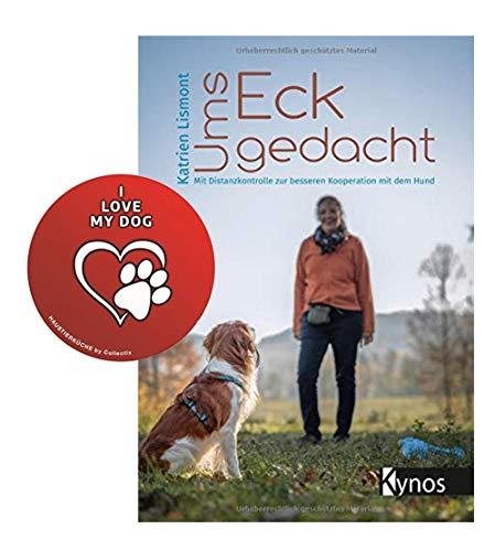 Oms hoek gedacht: Met afstandscontrole voor een betere samenwerking met de hond zakboek + I Love My Dog Sticker by Collectix