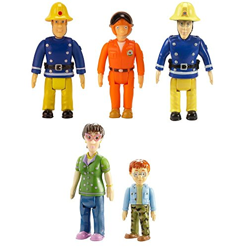 Feuerwehrmann Sam - Spiel Figuren Set - Sam, Elvis, Pilot, Norman & Dilys