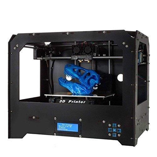 3D-Drucker, Colorfish (Schwarz) Persönliche tragbare Doppelextruder Desktop Rapid Prototyping 3D-Modelle 3D-Druckerkits 3D-Drucker Mit 1x 1,75 mm ABS/PLA-Filament (FDM 3D)