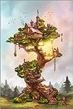 Poster 61 x 91 cm: Eichhörnchenbaum von Achim Szabo -