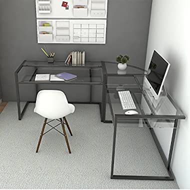 Ryan Rove Belmac 3-Piece Corner C Frame L Shaped Computer Desk