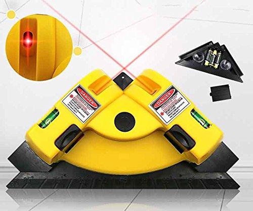 Mmsww Wandfliese 90-Grad-Laser-Winkelmesser, Fliesen, Rechtwinkliges Erdungsinstrument, Fliesenlaser
