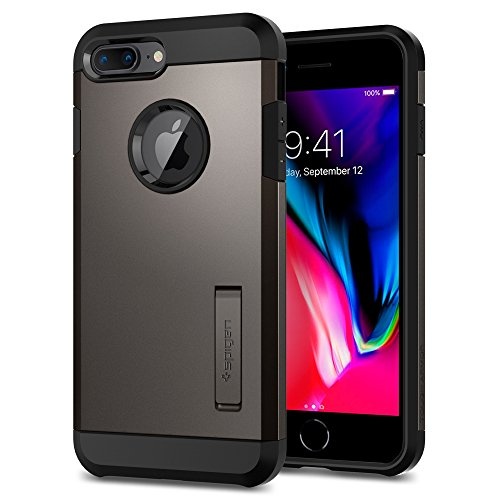 Spigen Cover Tough Armor 2 Compatibile con iPhone 8 Plus Compatibile con iPhone 7 Plus - Gunmetal