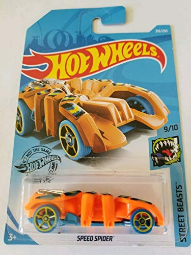 Hot Wheels 2019 Street Beasts Speed Spider (Spider Car) 210/250, Orange