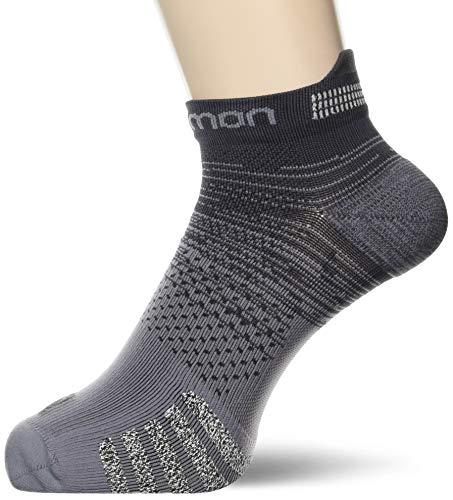 SALOMON Socks Predict - Chaqueta baja, Calcetines Predict Bajo, Unisex adulto, color Ébano, tamaño small