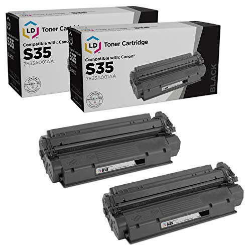 LD Remanufactured Toner Cartridge Replacement for Canon S35 7833A001AA (Black, 2-Pack)