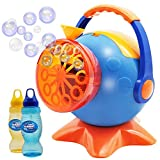 Bubble Machine, Automatic Bubble Blower Durable Bubble Maker with 2 Bottles of 250 mL Refill Bubble Solutions; 800+ Bubbles per Minute for kids, Summer Toy Party Favor, Birthday, Outdoor, Easter