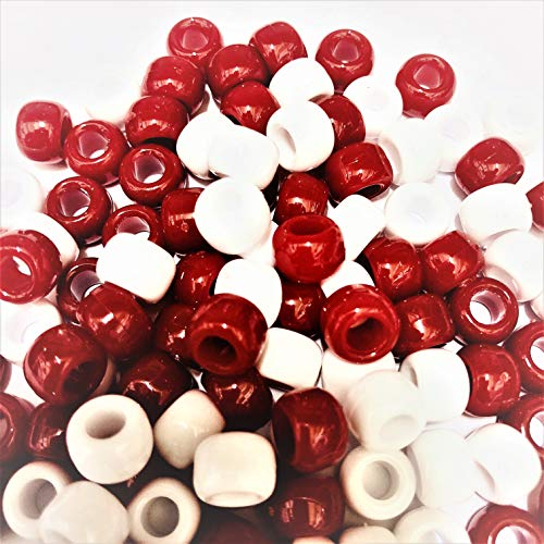 Cheveux Tressage 50 ou 300 clips de tétine 200 100 Craft Rose Opaque Pony Beads