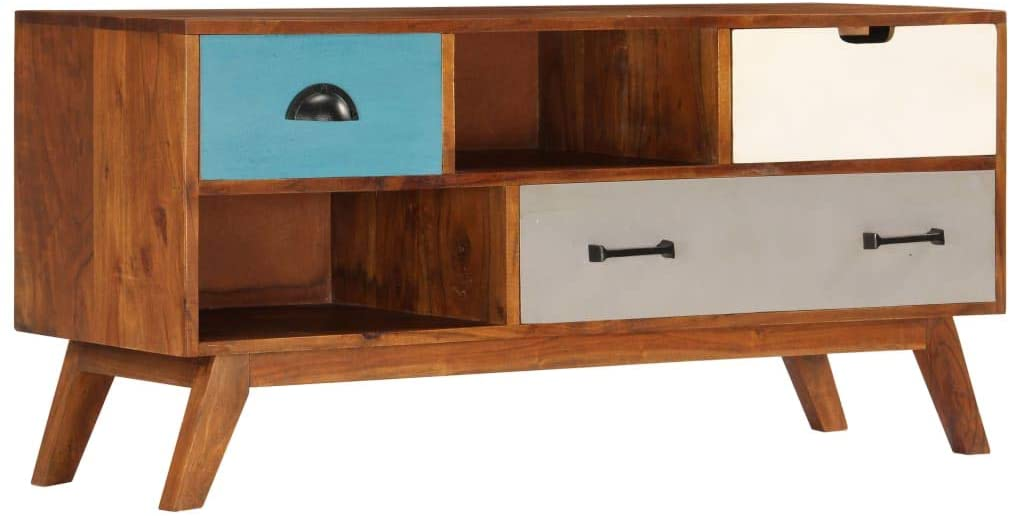 NusGear TV Cabinet with Popular New products, world's highest quality popular! 3 Solid Acacia 43.3