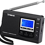 Portable Radio, ZHIWHIS AM FM Shortwave Radios with Best Reception, Battery Operated Clock Radio with Preset Function, Alarm Clock Digital Tuner with Sleep Timer