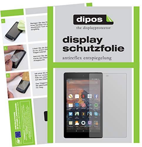 dipos I 2X Schutzfolie matt kompatibel mit Amazon Fire HD 8 Plus (2020) Folie Bildschirmschutzfolie
