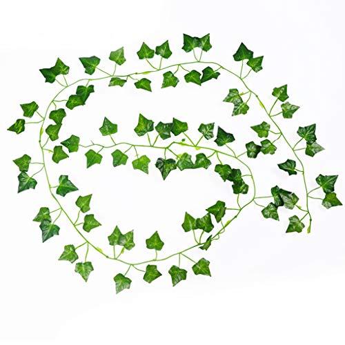 Rekkles 2m Enredadera Begonia Artificial Ivy Vine Leaf Plantas Plantas Artificiales Falsos Falso Colgando Inicio Decoración de la Boda