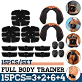 15PCS / Set Electrostimulateur Musculaire EMS Muscle Abdominal Trainer Smart Wireless Muscle ABS Hip AB Roller Stimulateur de Muscle Abdominal Ensemble de Massage Perte de Poids Abdos Appareil