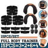 15PCS / Set Electrostimulateur Musculaire EMS Muscle Abdominal Trainer Smart Wireless Muscle ABS Hip AB Roller Stimulateur de Muscle Abdominal Ensemble de Massage Perte de Poids Abdos Appareil