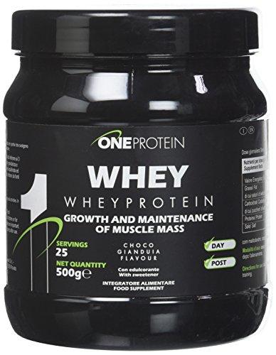 Whey integratore alimentare a base di proteine del siero del latte concentrate mediante ultrafiltrazione gusto Gianduia 500 g