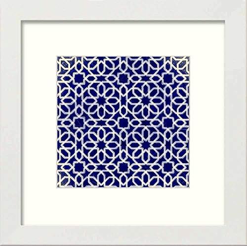 L Lumartos Vintage Ramadan Piastrelle contemporanea Decorazione della casa Wall Art Print, Bianco, 10 x 10