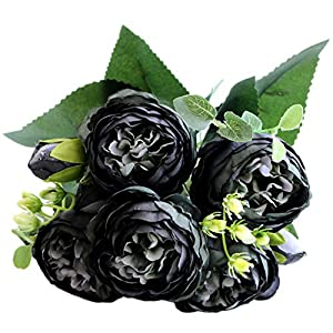 FKKFYY Phillips Rose Artificial Flowers Bouquet for Home Party Wedding Decoration