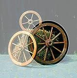 Beauty.Scouts Wagenrad Vitex II groß ⌀ 90cm Kiefernholz massiv honigbraun Dekorad Gartendeko Deko Gartendekoration Wagenrad Holzrad mit Eisenblech Einzelstück