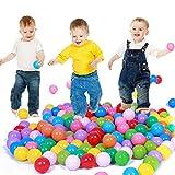 100pcs Play Balls Plástico suave No tóxico Sin ftalato Bolas de pozo Bebé Niños Juguete Swim Pit Toys (Multicolor, 100 piezas)