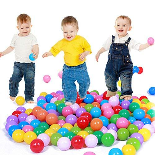 100 Stück Play Balls Weichplastik Ungiftig Phthalatfrei Crush-Proof Pit Balls Baby Kids Toy Swim Pit Toys (Mehrfarbig, 100 Stück)