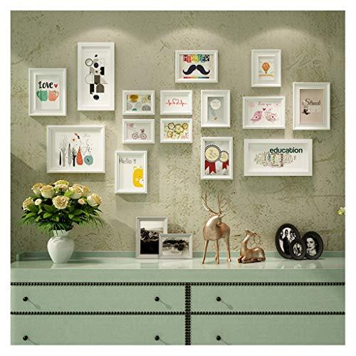 TAO 15 grand cadre en bois de cadre de photos, supports photo Soild bois combinaison de fond de canapé décor mural 154 * 78cm