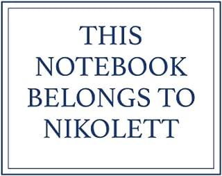 This Notebook Belongs to Nikolett