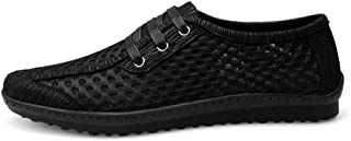 DADIJIER Los Zapatos atléticos Transpirables Perforados de los Hombres Atan para Arriba la conducción al Aire Libre Que Ca...