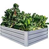 FOYUEE Galvanized Raised Garden Beds for Vegetables Metal Planter...
