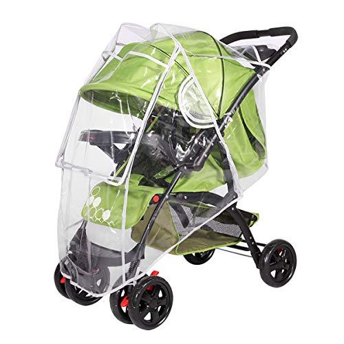 SONARIN Universal Regenschutz für Kinderwagen,Gute Luftzirkulation,Bequemes Kontakt-Fenster,einfache Montage an jedem Kinderwagen,Schadstofffrei