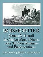 BOISMORTIER J.B. - Sonata Op.34 nコ 5 en Re menor para 3 Flautas y Piano (Pauler/Hess)