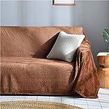XZ Moderne en peluche réversible causeuse, Couverture couleur unie Couch Couverture chaud Cover,B,200 * 260...